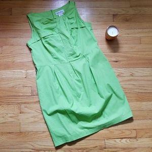 Danny & Nicole Green Cotton Shift Dress Size 16P